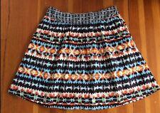 Porridge Anthropologie Brown Printed Cotton 'Duo Patterned' Skirt 8
