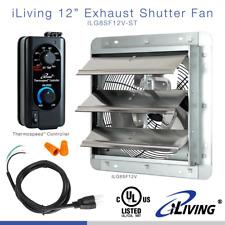 12 In Shutter Exhaust Fan With Thermospeed Controller 65 Watt 960 Cfm