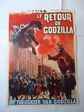 SCI FI/ MOTOYOSHI ODA/ GIGANTIS THE FIRE MONSTER/ UJ7/  belgium poster