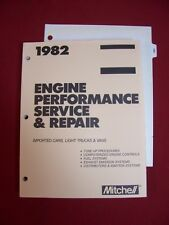 MITCHELL 1982 Imported Cars Trucks Engine Performance Service Repair shop manual