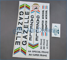 Vintage Rare Black GAZELLE Restoration Decals Kit + Gift Stickers