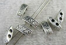 150pcs Tibetan Silver 2 holes spacer beads FC8042