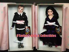 "MADAME ALEXANDER ADDAMS FAMILY THEATRE 10"" Halloween MORTICIA & GOMEZ_62115_NRFB"