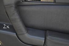 Se adapta a Alfa Romeo Gtv Cuero 2x Manija De Puerta cubre Negro