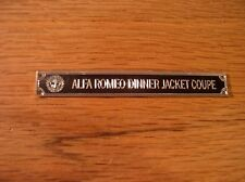 Pocher 1/8 Alfa Romeo 8C Dinner Jacket Metal Display Plaque 2300