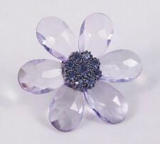 New Huge Genuine Lavender Crystal Flower Stretch Rings #R1108