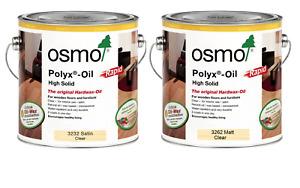 Osmo Polyx RAPID Hardwax Wood Oil - 3262 Matt & 3232 Satin - 750ml & 2.5L