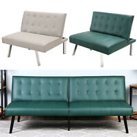 Modern Faux Leather Futon Sofa Bed Fold Up & Down Recliner Couch Living Room