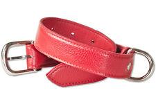 Rimbaldi Collier de chien en cuir pour chiens avec 35-45 cm Tour de cou en rouge