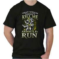 What Doesnt Kill Me Should Run Nerdy Gift Womens or Mens Crewneck T Shirt Tee