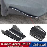 2Pc Universal Car Body Side Skirt Rocker Splitters Diffuser Winglet Wings Bumper