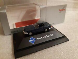 herpa  Mercedes-Benz 280 SL  Cabrio Dunkelblau / Aral Card Services  Exclusiv PC