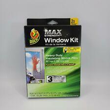 Duck Max Strength Window Insulation Kit Interior Heat & A/C 3 Windows 54 sq ft
