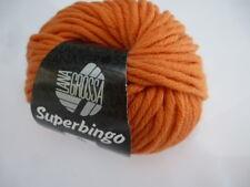 6,90 €/ 3.5oz Lana Grossa Superbingo 50gr Classic From Merino Wool Fb.50 Orange