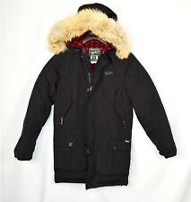 Authentic Men's Woolrich Mills Jacket Coat Parka Coat Size XS Arctic Black Fur