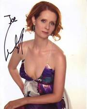 CYNTHIA NIXON Autographed Signed SEX AND THE CITY MIRANDA Photograph - To Joe