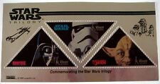 STAR WARS STAMPS SHEET OF 3 SA ST VINCENT SILVER STAR WARS TRILOGY TRIANGLE