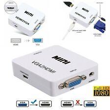 Hdmi to Vga/ Vga to Hdmi Converter Adapter Full Hd 1080P Audio Video Converter