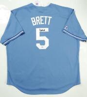 George Brett Autographed Kansas City Royals Majestic Jersey- Beckett Auth