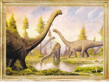 Diplodocus Dinosaur Prehistoric animals Paleontology Russian modern postcard
