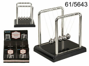MINI NEWTONS CRADLE Science Accessory Physics Desk Balls Balance Swing Steel Toy