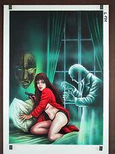 Originalzeichnung VAMPIR Roman 254 Titelbild Lutohin Das Phantom aus dem Kloster