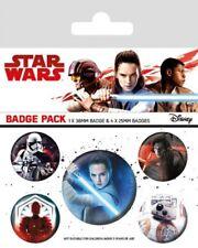 Star Wars Episode VIII pack 5 badges Characters badge pack Disney 806099
