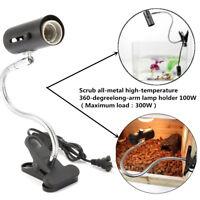 100W Ceramic Heat Lamp UV UVB Clamp Light Holder Pet Chicken Brooder Reptile