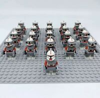 21x Red Arc Squad Clone Troopers Mini Figures (LEGO STAR WARS Compatible)