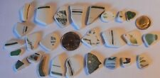 Genuine Surf Tumbled Sea Beach Glass Sea Pottery Shards (26 pc) Fast Shipping!