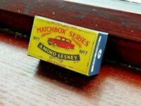 LESNEY MATCHBOX NO.7b FORD ANGLIA, REPLACEMENT CUSTOM DISPLAY/STORAGE BOX ONLY