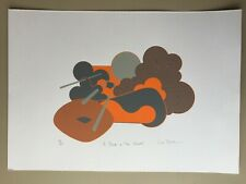 Liw Banks. 'A Break In The Clouds'. Retro 70's Style Screenprint. Ltd Ed 30/50.