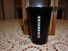 Starbucks Tumbler Travel Coffee Mug With Lid Black White 8 oz Ceramic