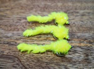 """Electric eggstacy worms """"sweetcorn"""" set of 3"""