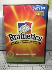 Brainetics Playbook 3-5 Replacement DVDs. Math Memory New Sealed