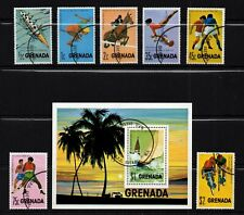 GRENADA, SCOTT # 668-657, COMPLETE USED SET - PAN AMERICAN GAMES WITH MINI SHEET