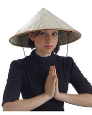 Adult Woven Bamboo Costume Accessory Coolie Conical Asian Chinese Hat