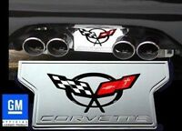Corvette Exhaust Plate - Billet Chrome with C5 Logo : C5 & Z06