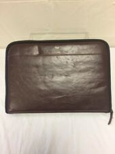 """Typo Brown Leather Case 16.5""""x11"""" GREAT FOR MACBOOK LAP TYPING VINTAGE"""