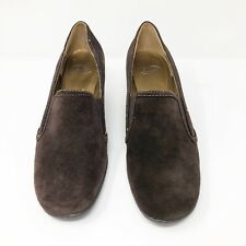 Circa Joan & David Size 10 Shoes Brown Suede Wedge Heels New in Box