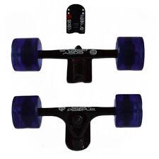 Easy People Longboards Black Truck set Purple wheels,Spacer,ABEC-7