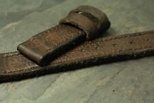 24x24mm leather strap glove tanned Buffalo Brown ZTRITIUM Vintage for Panerai