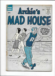 ARCHIE'S MAD HOUSE #9 [1960 GD] BLUE COVER!    SILVER-AGE COMICS