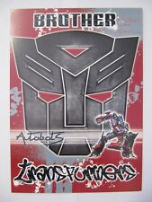 FANTASTIC COLOURFUL TRANSFORMERS BROTHER ACTIVITY BIRTHDAY GREETING CARD