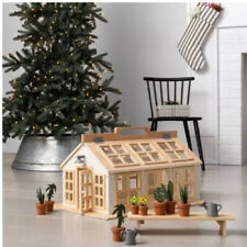 MAGNOLIA Hearth & Hand Real Wooden Toy Greenhouse Doll House 12 Pieces NEW