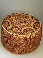 Handmade Moroccan POUF Genuine Leather Pouffe Ottoman Footstool