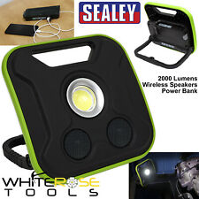 Sealey Floodlight Portable Site Light Wireless Speakers 20W COB LED Rechargeable