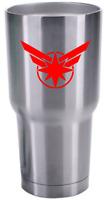 YETI CAPTAIN MARVEL STAR COMIC AVENGERS SUPER HERO DECAL STICKER VINYL CAR CUP