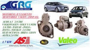 MOTORINO AVVIAMENTO VW GOLF V-G.PLUS 04-09-5M-SEAT AUDI A3 1.9TDI/2.0 TDI ADATT.