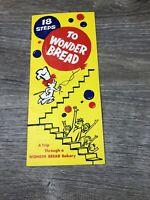 VINTAGE 1950's 18 STEPS TO WONDER BREAD Advertising Pamphlet